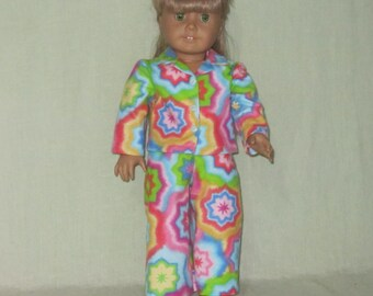American Girl Size Doll Pajamas Tie Dye Stars