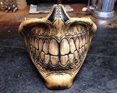 Steampunk biker skull Grin Half  Mask
