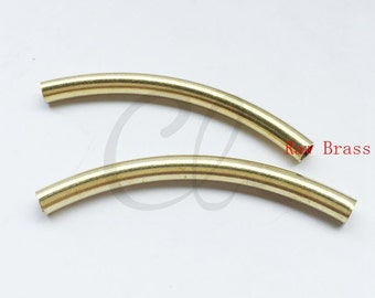 10pcs Raw Brass Tube 5x60mm with ID 4mm  (307C-F-599)