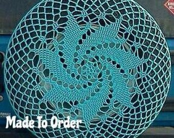 Spiral Crochet Spare Tire Cover