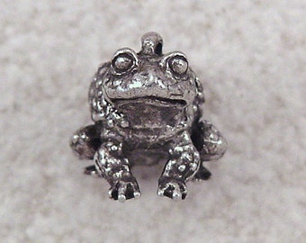 NEW Green Girl Studios Pewter Toad Charm