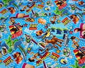 Disney licensed  Fabric Toy Story Print Woody Buzz Lightyear and Many more 50 cm by 106   cm or 19.6 by 42 inches Half meter