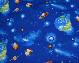 Japanese Fabric Stars and Planets Print Half meter