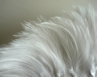 VOGUE HACKLE /  Cream, off white , double ply / HK  - 06