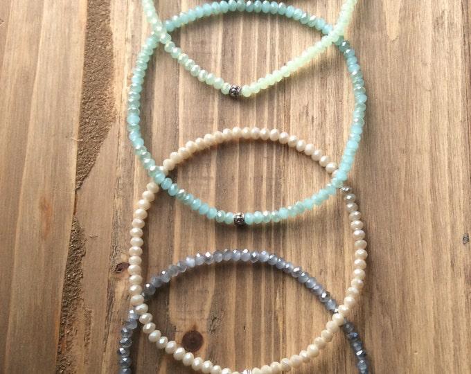 Ocean Glass anklet bracelet