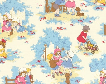 Clearance FABRIC Lecien Petite Marianne RETRO CHILDREN Playing 1/2 Yard