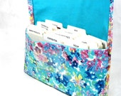 Coupon Organizer - Ready to Ship - Coupon Holder - Coupon Bag - Coupon Binder - Purse Organizer - Receipt Holder - Watercolor Floral Fabric