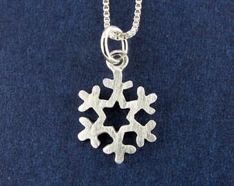 Tiny snowflake necklace / pendant