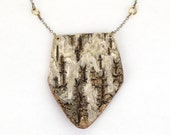 Birch bark necklace, Arrowhead