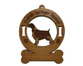 3165 English Springer Spaniel Standing Personalized Wood Ornament