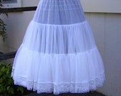 Vintage Lace Petticoat Slip Dress Skirt Steampunk Rockabilly Wedding Slipdress Country Western Bride Cowgirl Square Dance Lingerie