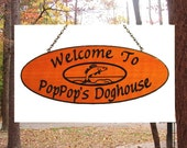 Camping Name Custom Carved Wood Sign - Wood Carved Sign