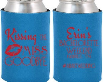Kissing the Miss Goodbye Bachelorette Can Coolers