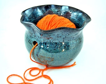 Yarn Bowl, Knitting bowl, yarn organizer, craft supplies, knitting and crochet - Made to order
