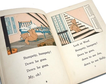 We Three a Primer by Alberta Walker vintage childrens book . bedtime story . learn to read . The Study Readers 1920s