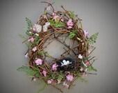 Strawflower Fields Wreath Spring Wreath Pink Flower