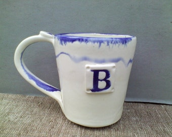Porcelain Alphabet Mug With The Letter B