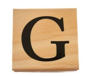 Letter G Rubber Stamp, G Stamp, Letter G Monogram, Letter G Stamp,  G Initial Rubber Stamp, Wood Mounted Rubber Stamp, Monogram Rubber Stamp