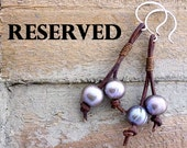 Reserved for Megan - Custom Knotted Pearl and Cross Bracelet