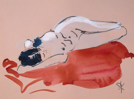 Nude painting- #1294 by Gretchen Kelly