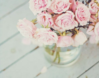 Flower Photography , English Rose Photo, English Roses Print, Pink Roses, Baby's Room, Girls Room, Pink, Pink Flowers, Shabby Chic