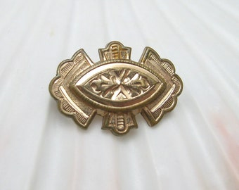 Small Victorian Brooch Etruscan Revival Jewelry P6541