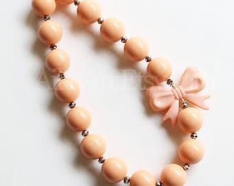 Peachy Keen Chunky Necklace