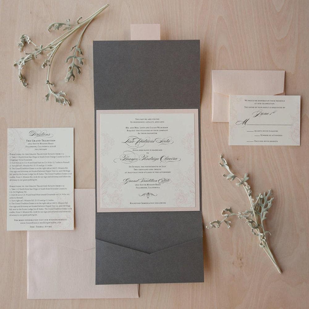 Funky Wedding Invitation Pockets Uk Composition - Invitations Design ...