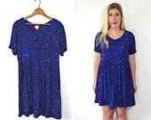 Royal Blue Dress - Peter Pan Dress - Peter Pan Collar Dress - 90 Babydoll Dress