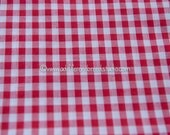 Amazing Red Gingham- Vintage Fabric Juvenile Holiday Doll Making 35 in wide