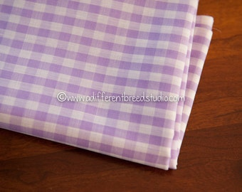 Lilac Gingham- Vintage Fabric Juvenile Traditional Doll Making Nursery Baby Purple 1/8 in squares