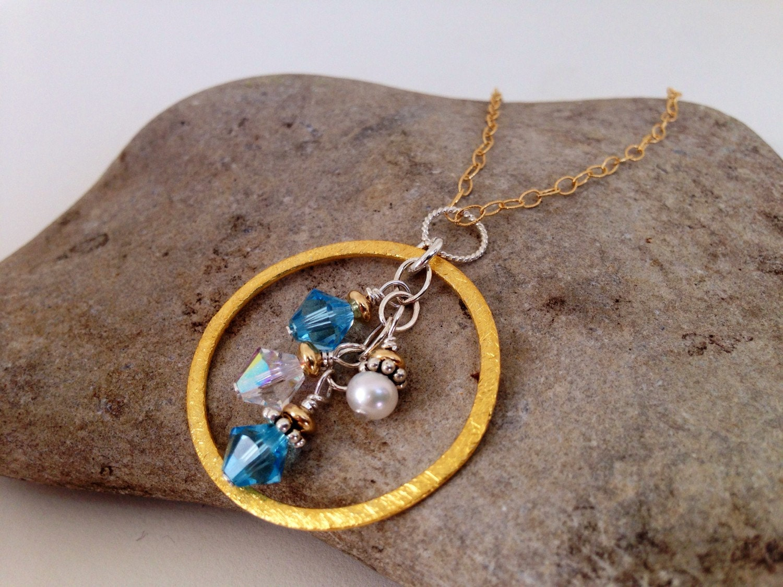40th Birthday Gift For Women Custom Birthstone Necklace