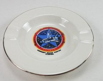 Nasa Kennedy space center Columbia ashtray souvenir space shuttle collectible nasa ashtray