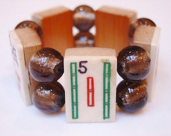 Mah Jong / Mahjong / Mah-Jong / Mahjongg / Mah-Jong / Mah Jongg / Bone / Bamboo / Taupe / Asian / Jewish / Jewish Gift / Jewish Jewelry