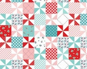Country Patchwork in Aqua by Tasha Noel for Riley Blake - 1 YARD Fabric