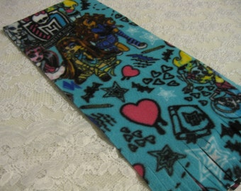 Five Buck Fleece Scarf Blow Out Only at SylMarCreations!  Monster High * Winter Fleece Scarf  * Vivid Aqua