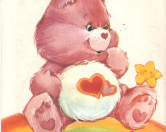 Butterick 6232 Love a Lot Bear Care Bear Pattern 1980s Vintage Stuffed Toy Animal Sewing  Pattern UNCUT 17 Inches
