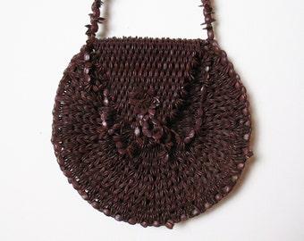 SALE  ROUND coffee bean purse