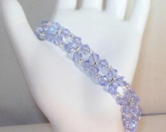 Swarovski Crystal Jewelry - Provence Lavender Crystal Bracelet - Any Color - SHIPS WITHIN 24 Hrs