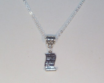 Sterling Silver Diploma Necklace - Graduation Gift