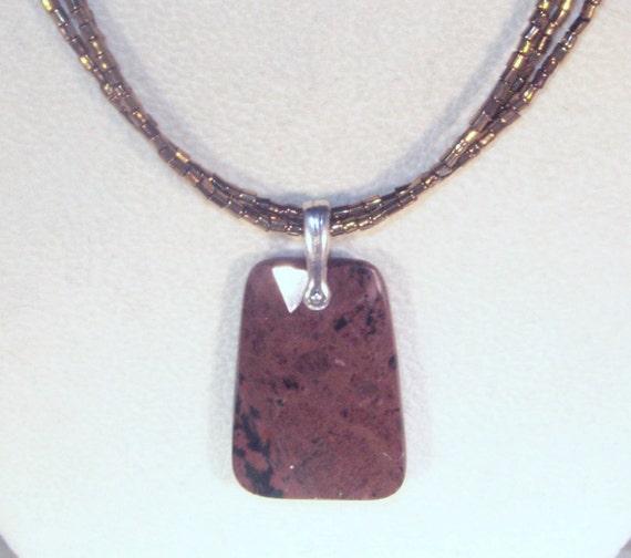 Gemstone Jewelry - Rainbow Jasper Trapezoid Necklace