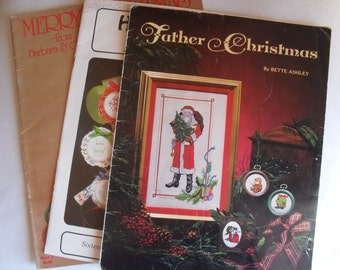 Counted Cross Stitch Christmas 3 Needle Booklets