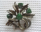 Scottish Polished Stone Brooch REDUCED PRICE