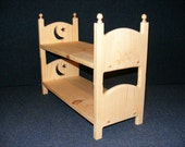 """MOON and STAR Stackable American Girl Doll Bunk Bed 18"""" Doll Furniture Gift for Girl Gift for Niece Gift for Daughter Gift for Granddaughter"""