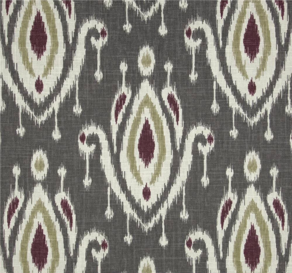 Grey Ikat Drapes Custom Gray Curtains Modern by asmushomeinteriors