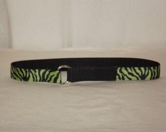 Green Tiger Toddler Belt