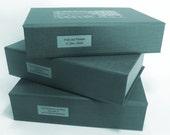 Custom Clam Shell Box / Portfolio for housing 8.5 x 11 x 2 inch content. Clam Shell Storage Box. Portfolio Box. You Design, we Handcraft.