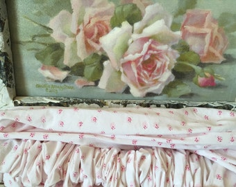 Simply Shabby Chic Mon Ami Pink Roses Chandelier Cover - Rachel Ashwell Cord Cover - Curtain Rod Cover - Shabby Chic Decor