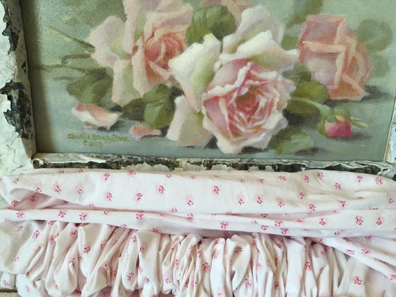 Simply shabby chic mon ami pink roses chandelier cover - Shabby chic curtain poles ...