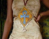 Trini convertible dress with Ankh and Africa Erykah badu design dress Or skirt size Small to Xlarge